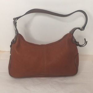 Fossil Red & Brown Leather Hobo ZB 8527